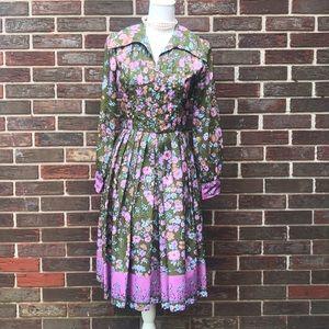 70's boho giraffe theme dress
